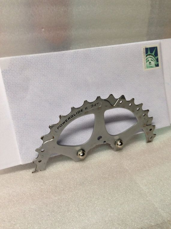 Mail Holder from Upcycled Bike Gear by akaupcycled on Etsy, $14.95