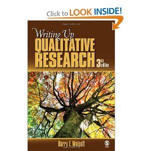 Writing Up Qualitative Research: Harry F. Wolcott: 9781412970112: Amazon.com: Books