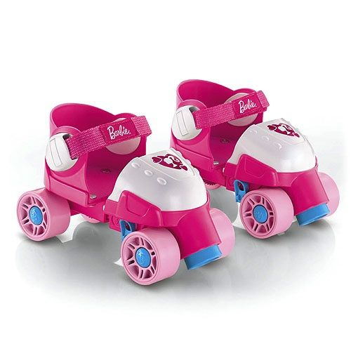 Girl Pink Barbie Roller Skates Grow with Me Fisher-Price Preschool and Toddler Toys Games and Learning Activities by Mattel