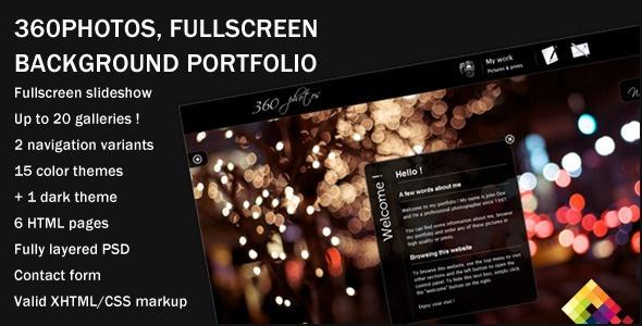 360 Photos - Fullscreen Background Portfolio