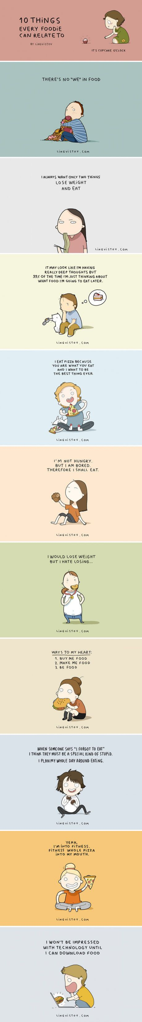 10 Things Every Foodie Will Understand (By Lingvistov)