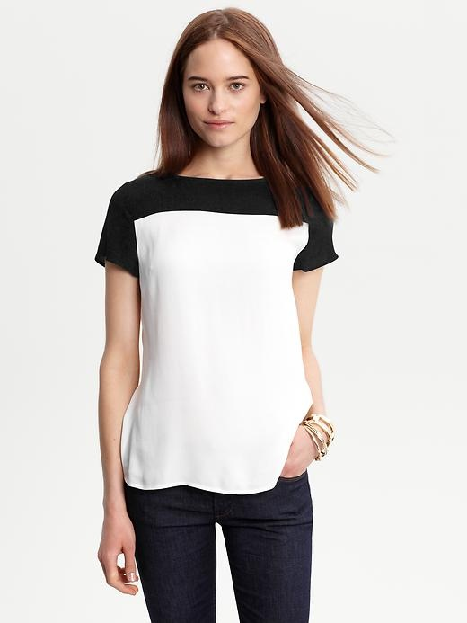 black and white color block
