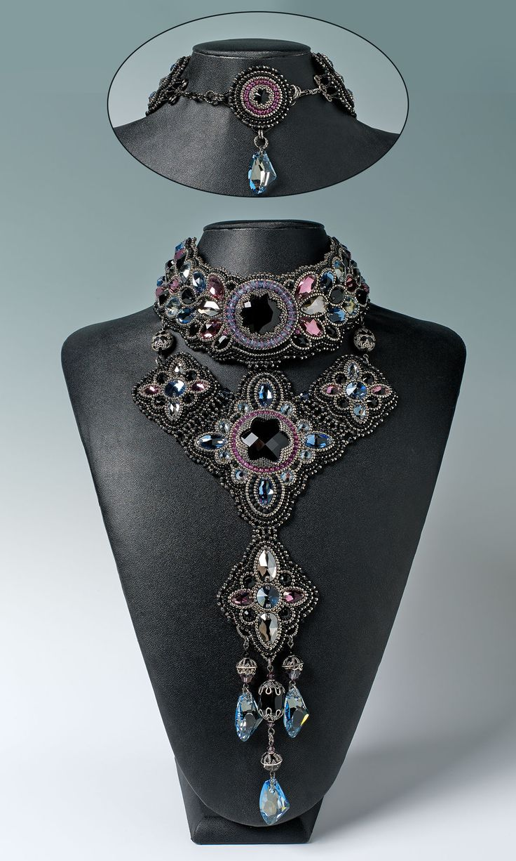 Jewelry Design – Bib-Style Necklace with Swarovski…