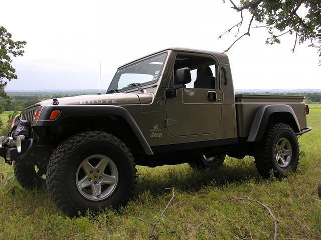 jeep wrangler pickup conversion | CL: 2002 Jeep Wrangler TJ Scrambler Brute Truck - $13000 (east ...