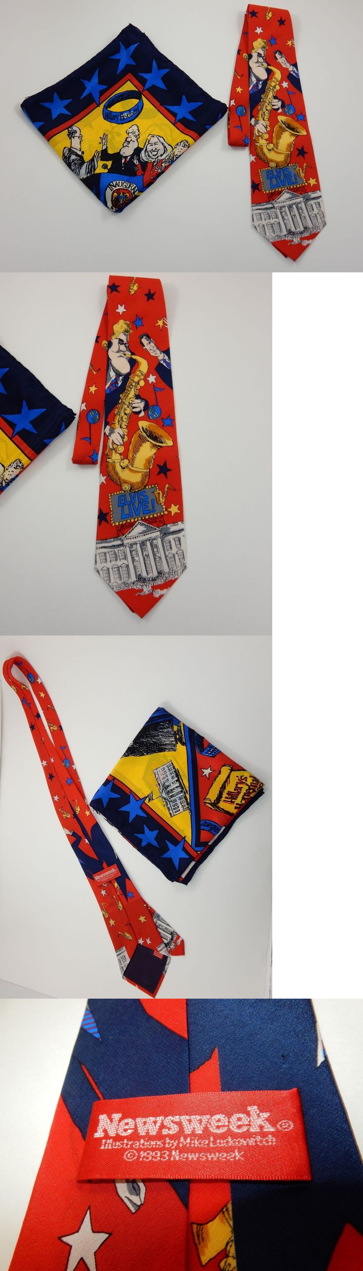 Bill Clinton: Bill Clinton Necktie And Hillary Clinton Political Satire Scarf By Newsweek Rare -> BUY IT NOW ONLY: $399.99 on eBay!