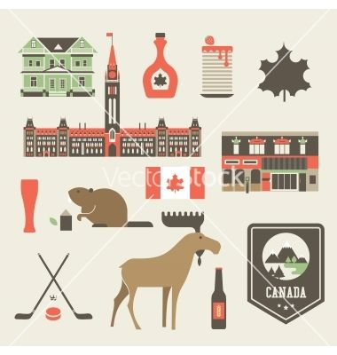 Canada icons vector by keiry on VectorStock®