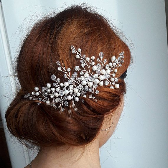 Check out this item in my Etsy shop https://www.etsy.com/listing/566980147/bridal-hair-piece-wedding-headpiece