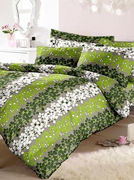 This set of double bedsheet with two pillow covers has a trails of leaves in a beautiful pattern. The 100% cotton fabric is machine washable and will last through multiple washes. The farbric will remain soft and smooth. Our brand add to your house lifestyle with style, comfort and luxury. Info