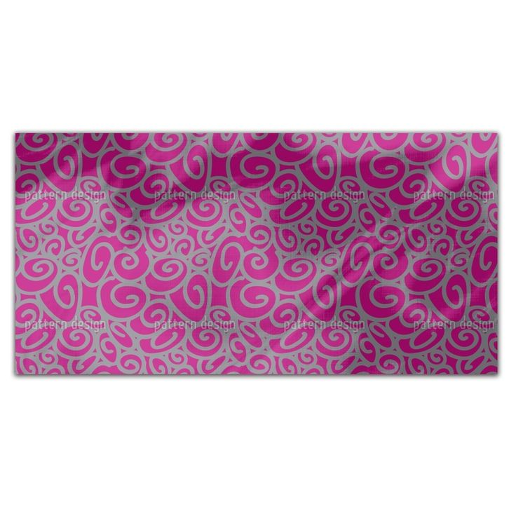 Uneekee Beginning And End Magenta Rectangle Tablecloth