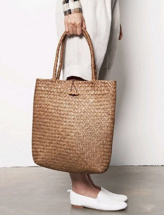 Featured on People StyleWatch Magazine, Weave Straw Tote, Summer Straw Bag, Rattan Summer Bag, Natural Shopping Tote, Rattan Handbag,
