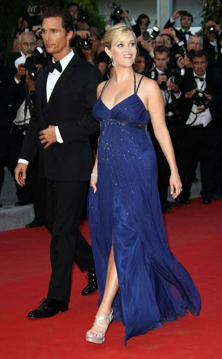 Actors Matthew McConaughey, left, and Reese Witherspoon arrive for the screening of Mud at the 65th international film festival, in Cannes, southern France, Saturday, May 26, 2012.