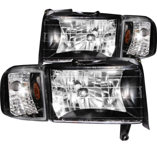 Left Right Side New Anzo Headlight Lamp Set of 2 Crystal Clear Lens LH 111067 | eBay