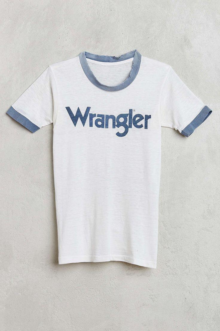 Vintage Wrangler Ringer Tee - Urban Outfitters