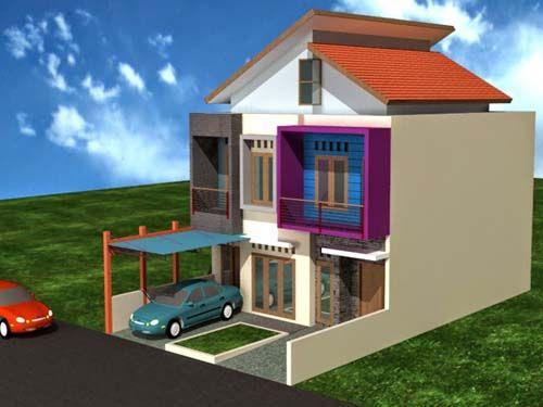 Desain rumah sederhana dua lantai minimalis