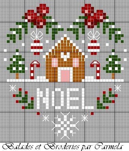 Grilles gratuites - I love Christmas ! - Coeur tout rouge ! - Coeur de Noel ! - C'est l'automne ! - Coeur aux oiseaux - balades-et-broderies