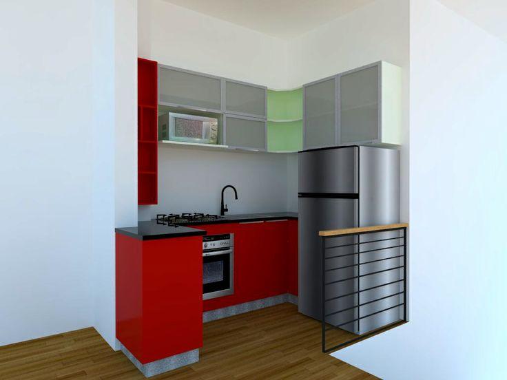 Cocina en pequeño departamento
