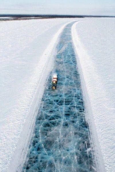 Ice road, alaska