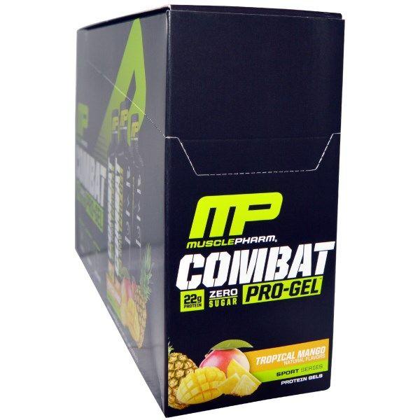 sports-fitness-athletic: Muscle Pharm, Combat Pro Gel, Tropical Mango, 12 P...