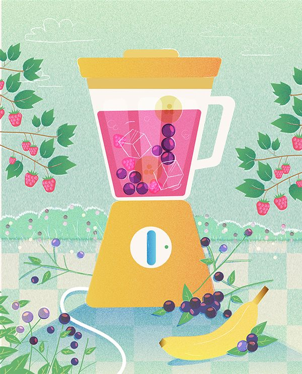 """""""Smooth morning"""". Style test about smoothie and berries."""