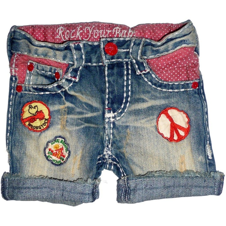 Vintage Peace Shorts http://www.rockyourbaby.com/girls/shorts/vintage-peace-denim-shorts.html