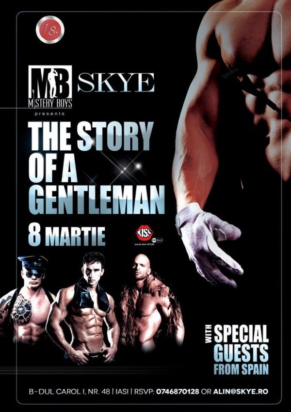 Striptease masculin cu Mistery Boys @Skye Club