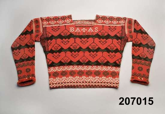 Male sweater, Bjuråker, Hälsingland. Dated 1860. Nordiska Museet, Stockholm. http://www.digitaltmuseum.se/things/trja/S-NM/NM.0207015?query=bjur%C3%A5ker_context=1=1=175=21