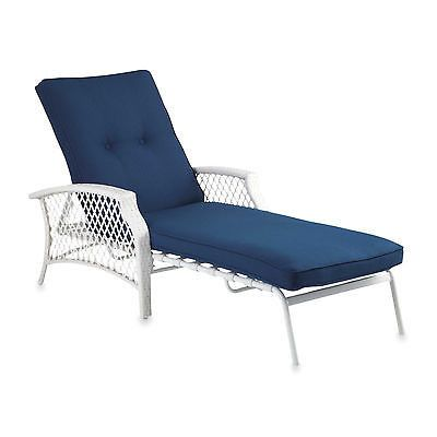 Chaise Wicker Outdoor Lounge Patio Lawn Furniture Cushion