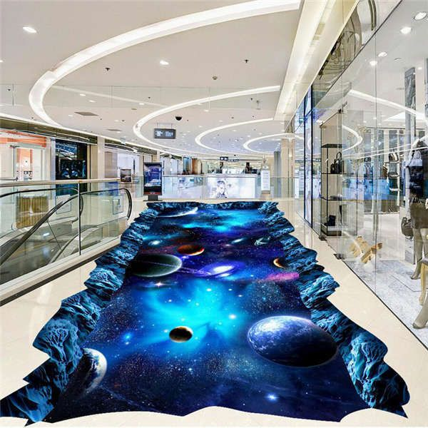 Flooring Ideas: Details About Galaxy Universe Painting 3D Floor Mural