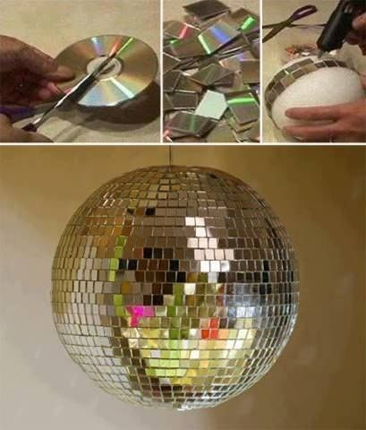 Disco globes as New Years Decor or for special events/parties! Oh yea...