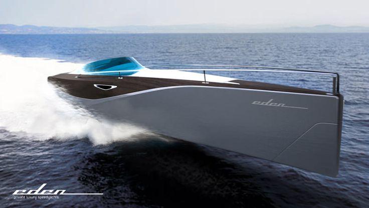 Sleek and luxury motor yacht concept by Daniel Hahn, read more at www.designspawn.com/eden-yacht-by-daniel-hahn