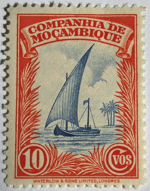 Companhia de Mocambique by DrPhotoMoto - Undergoing Lightning Recovery!, #postage #stamp #oquiststamps #red www.oquiststamps.com