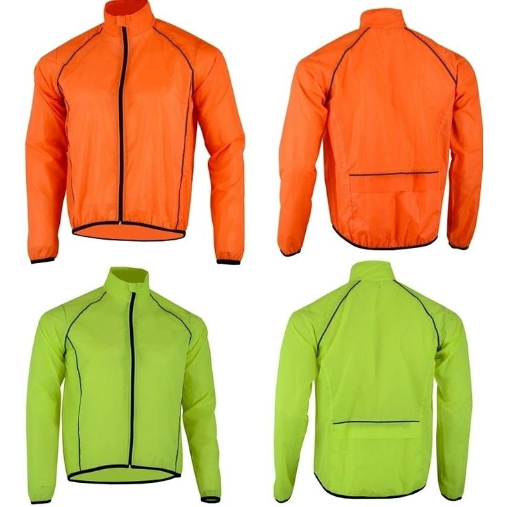 Mens Cycling Jacket High Visibility Waterproof Running Top Rain Coat Hi Viz