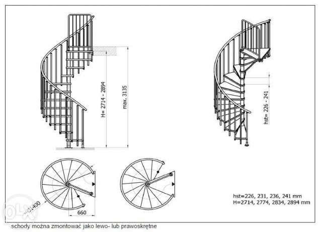 super ! schody modułowe kręcone śr. 120 lub 140 cm stal/ drewno bukowe Kielce - image 2