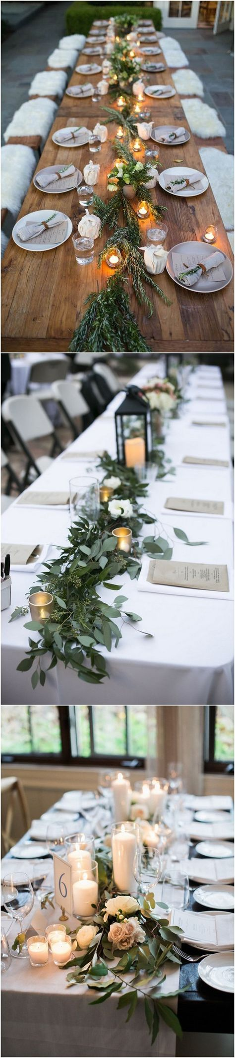 rustic wedding table decoration ideas with candles