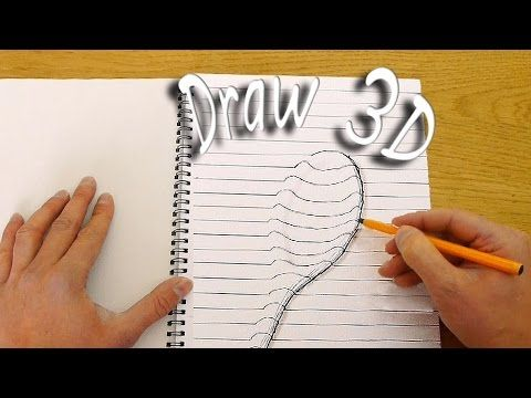 How to Draw 3D Objects That Appear to Be Coming Off of the Paper Using Lines