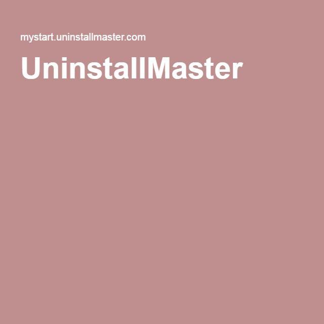 UninstallMaster