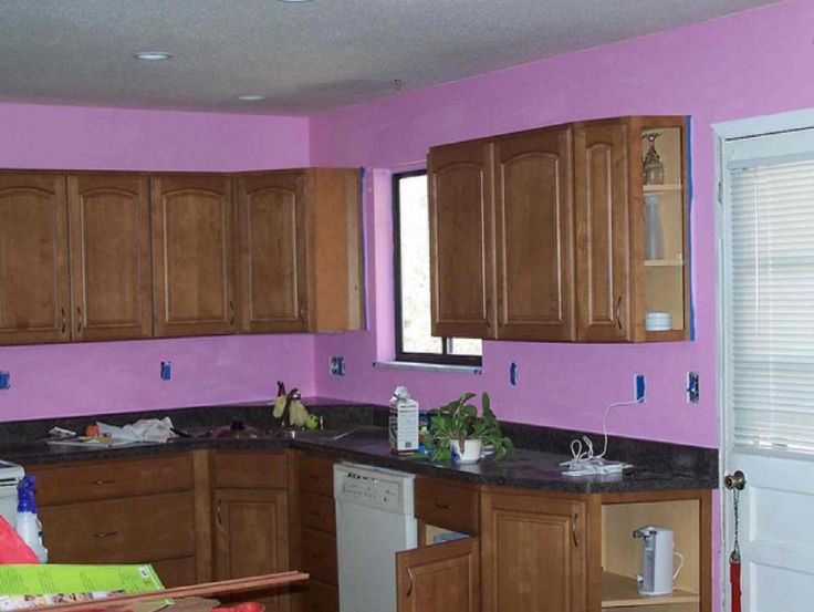 Kitchen: Wall Colour Combination For Kitchen Kitchen Wall Colors Popular Painting Schemes Amp Inspirations Colour Combination For Of Purple Color Idea Perfect Selecting Plus Picture