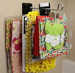 Organizing Quilting Templates : Binder clips and Quilting on Pinterest