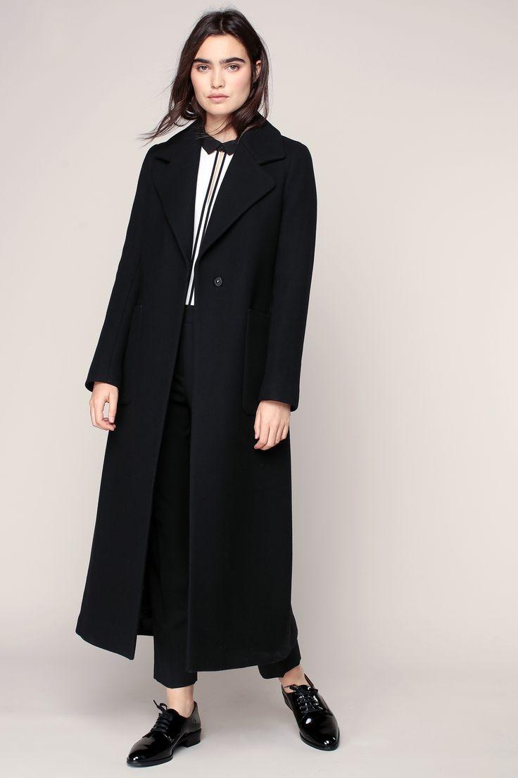 les 25 meilleures id es de la cat gorie manteau long noir sur pinterest manteau long femme. Black Bedroom Furniture Sets. Home Design Ideas