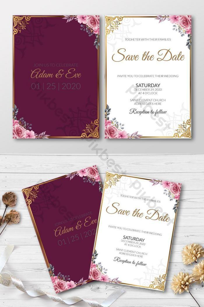 الأزهار الطوطم أسلوب بسيط بطاقة دعوة الزفاف Ai تحميل مجاني Pikbest Wedding Invitation Cards Wedding Invitations Wedding Invitation Card Template
