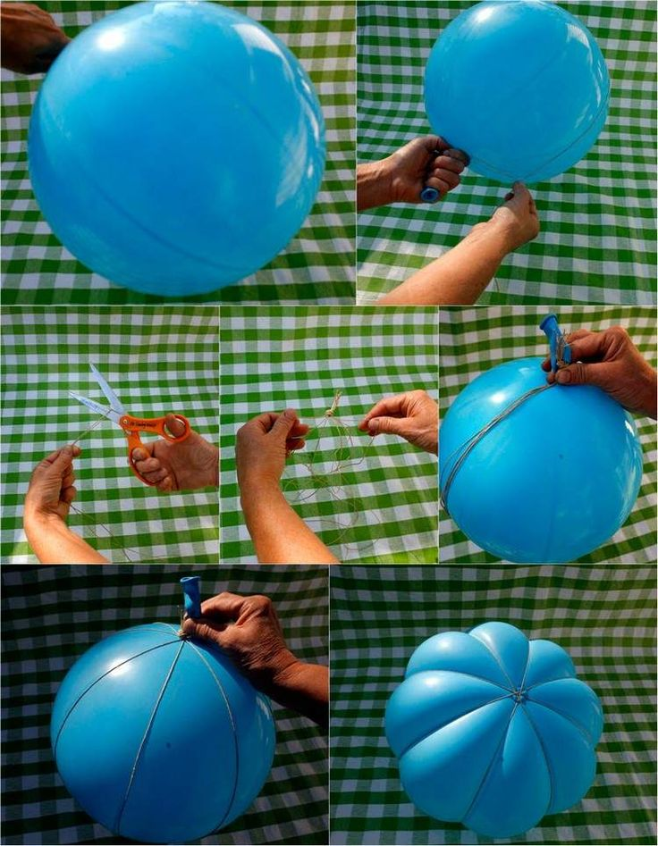 Kürbis basteln aus Luftballon