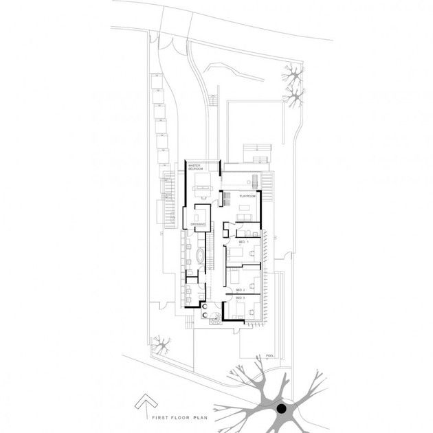 Architecture:Amusing Sketch For Home Decorating With First Floor Plan Ideas With Details Room Stunning House in Australia Designed by Edward...