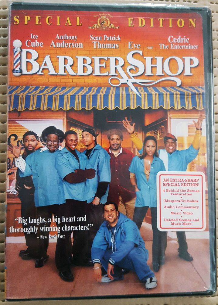 BARBERSHOP, 2003 DVD SPECIAL EDITION, WS, ICE CUBE, COMEDY, NEW, 15% OFF 2+