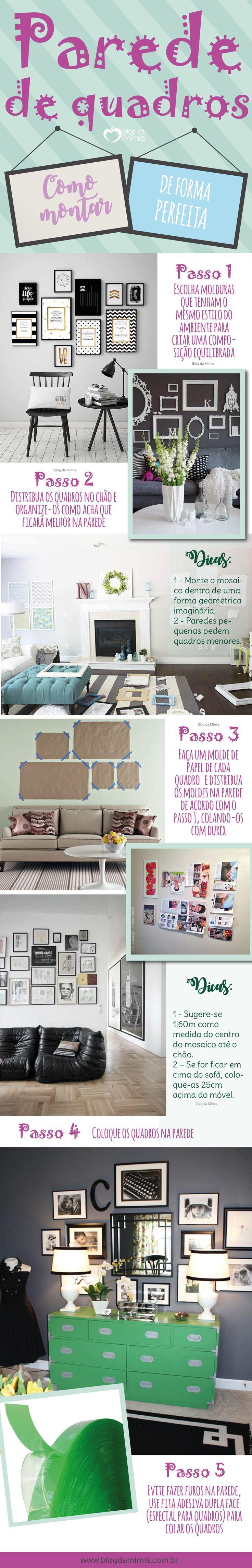 Como montar a parede de quadros perfeita - Blog da Mimis #blogdamimis #parede #quadros #decor #decoração #home #casa #diy