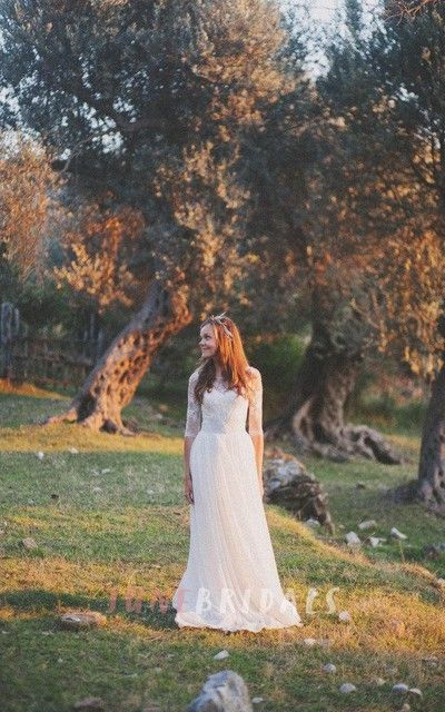 Corset Wedding With Lace Bodice Dress - June Bridals
