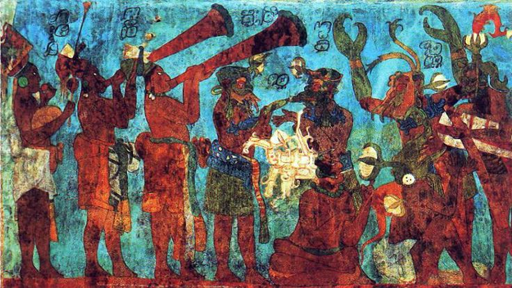 17 best images about natives of amaru north and south for Bonampak mural painting