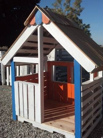 Made from pallets by steamatic all about pallets for Building a wendy house from pallets