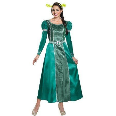 Fiona Deluxe Women's Plus Size Adult Halloween Costume, One Size, 18-20, Size: Women Plus (18-20), Green