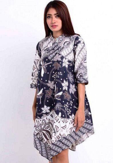 Model Baju Batik Modern Yang Trendi Dan ッ 40 Model Baju Batik Wanita  atasan Lengan Panjang 1a1a8dd1f5