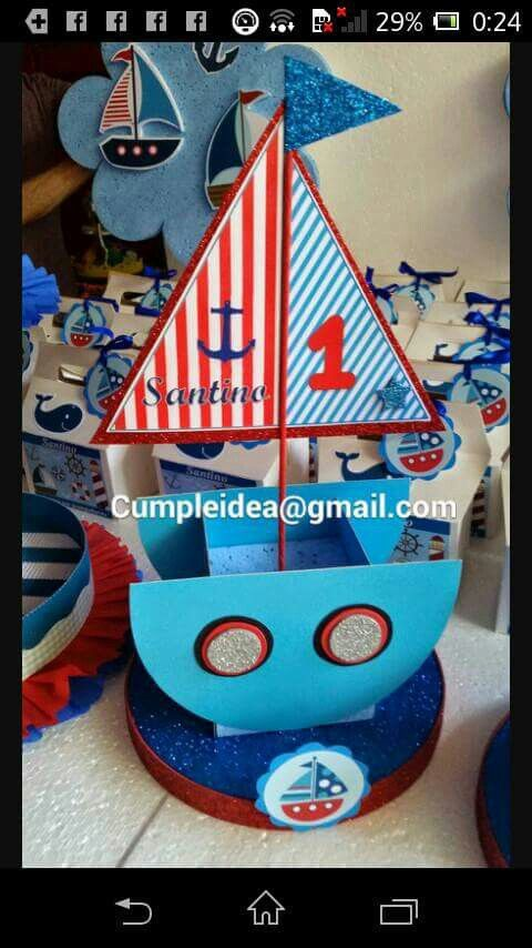 M s de 1000 ideas sobre centros de mesa para fiesta de for Decoracion nautica infantil